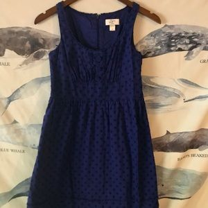Bright blue Ann Taylor Loft sundress